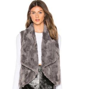 Jack by BB Dakota Faux Fur Vest Gray Extra Small